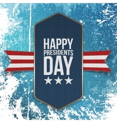 Happy presidents day big realistic blue banner vector