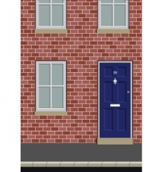 house on street vector image