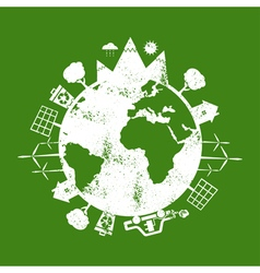 Concept earth with icons of ecology environment vector