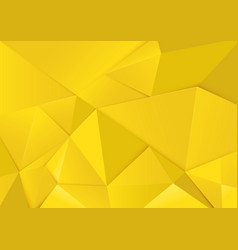 Abstract geometric yellow tone polygon background vector