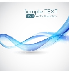 Abstract Wave White Background vector image