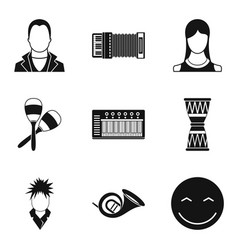 audience icons set simple style vector image vector image