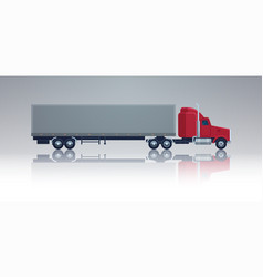 big cargo truck trailer vehicle isolated template vector image