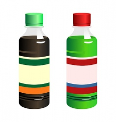 bottles with blank label vector image