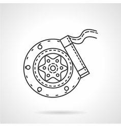 Brake block flat line icon vector