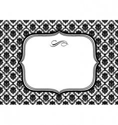 Diamond pattern frame vector