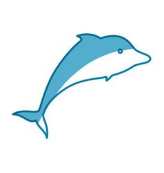 Dolphin marine animal vector
