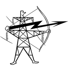 Electric power transmission vector image