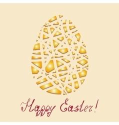 Happy Easter background Golden Easter egg vector image