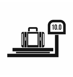 Luggage weighing icon simple style vector