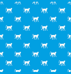 monkey pattern seamless blue vector image