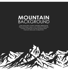 Mountain range isolated on black background vector