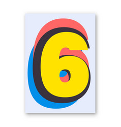 Number 6 poster vector