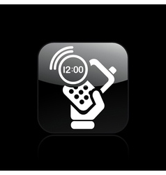 phone clock icon vector image vector image