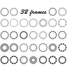 Set of round and circular empty frames vector