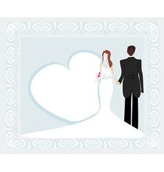 stylish wedding invitation card with vintage vector image vector image