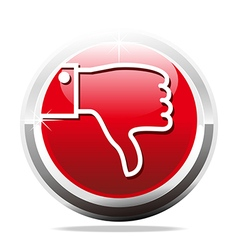 Thumb down jaded finger design icon vector