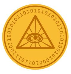 Total control digital coin vector