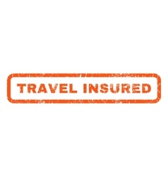 Travel Insured Rubber Stamp vector image