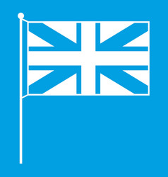 Uk flag icon white vector