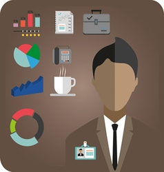 Business idea infographic with icons person phone vector