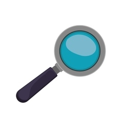 magnifying glass with black base vector image