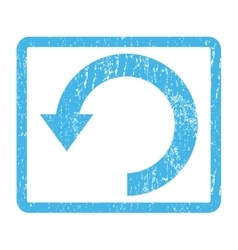 Rotate down icon rubber stamp vector