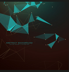 Abstract dark background with triangles dots and vector