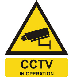 video surveillance sign cctv in operation vector image