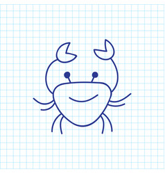 of zoology symbol on crab vector image