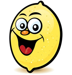 happy lemon character vector image