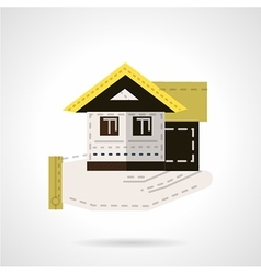 Sale of house flat icon vector