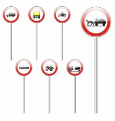road signs stick vector image