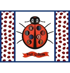 Kids logo with ladybug vector