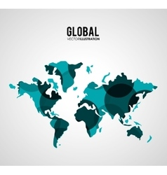 Global communication design vector