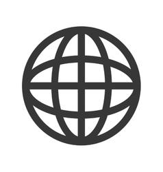 Earth globe diagram icon vector
