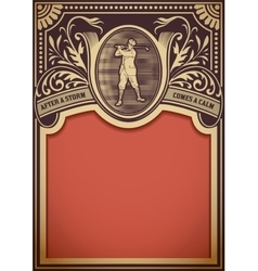 Golf retro card organized by layers vector