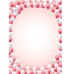 Balloons frame template vector image vector image