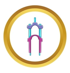 Bicycle suspension fork icon vector