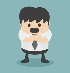 Businessman with folded arms vector