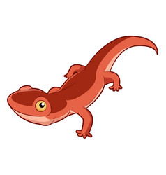 Cartoon smiling newt vector