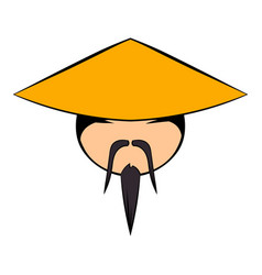 Chinese man icon cartoon vector