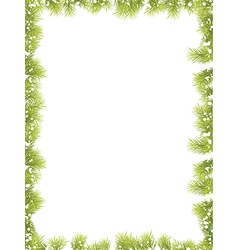 Christmas Fir Tree Border vector image vector image