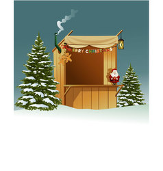 Christmas shop vector image vector image