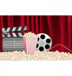 cinema background with curtains vector image