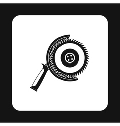Circular saw icon simple style vector
