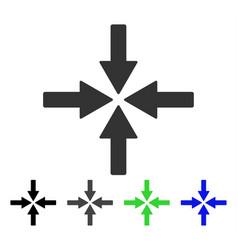 Collide arrows flat icon vector