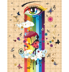 Colorful surreal fairy2 vector