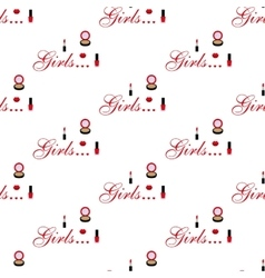 Cosmetic seamless pattern vector image