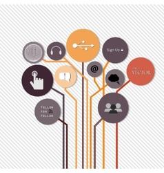 Creative concept growth Tree idea vector image